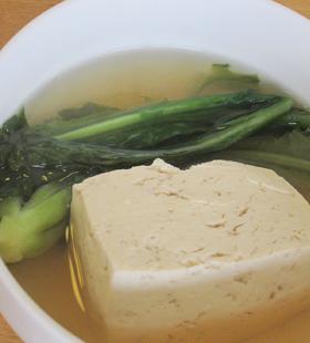 島豆腐とカラシナのあっさり煮
